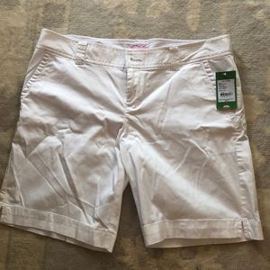 White Lily Pulitzer resort Bermuda shorts size 14